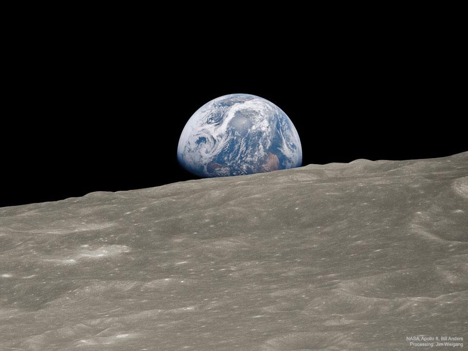 50 سال از تصویربرداری تاریخی فضانوردان آپولو 8 گذشت