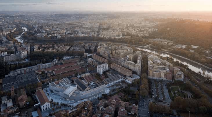 موزه هنرهای معاصر ماکسی اثر جدید در رم، ترکیبی از نظام ساختی دارای استخوانبندی و نظام تودهای همسان