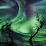 نمایش شفقی و اعجاب انگیز آسمان نروژ