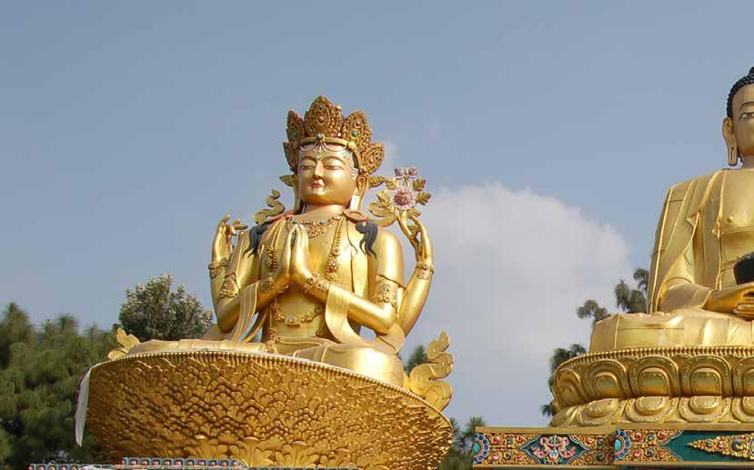 نمایی از بودا پارک در شهر کاتماندو پایتخت نپال