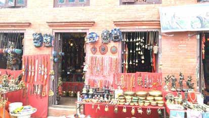 یک مغازه صنایع دستی در شهرکاتماندو