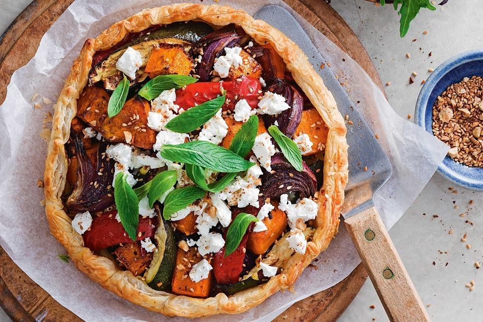طرز تهیه تارت کبابی سبزیجات