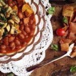 طرز تهیه خوراک لوبیا با نان سیر