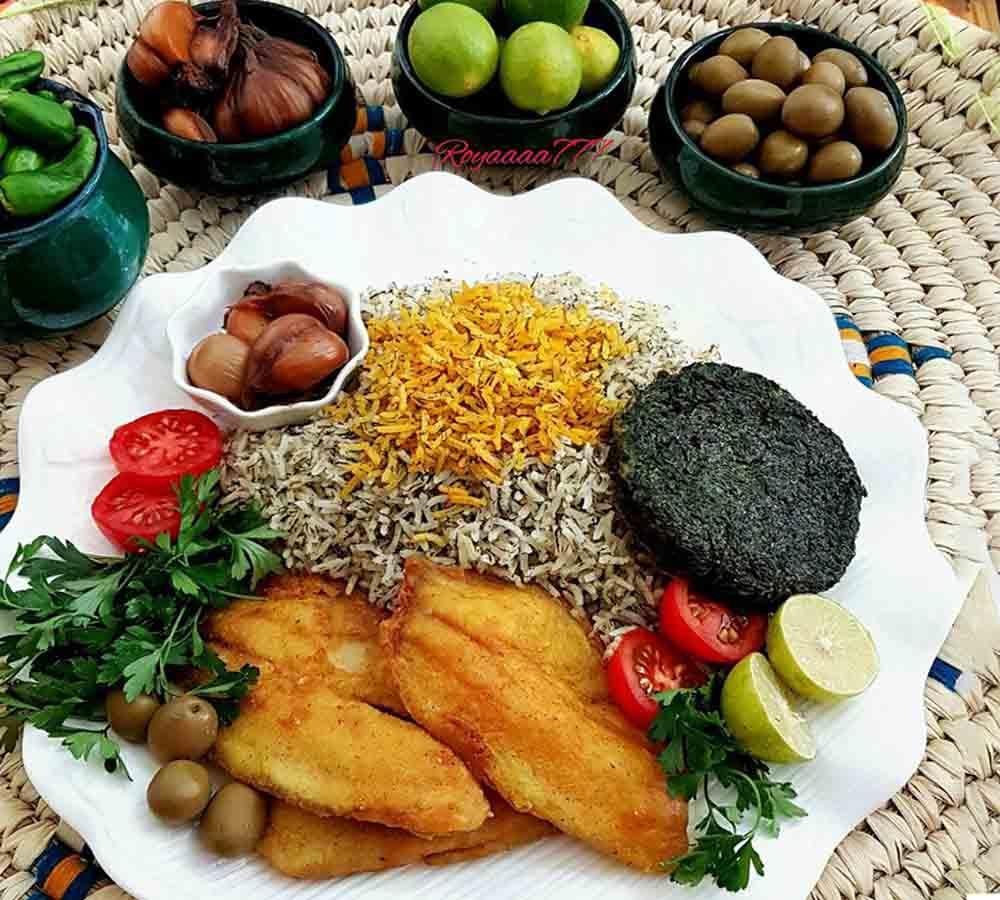 طرز تهیه سبزی پلو همراه با ماهی و کوکو سبزی شب عید