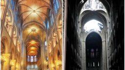تصاویری از قبل و بعد از آتشسوزی ویرانگر کلیسای نوتردام