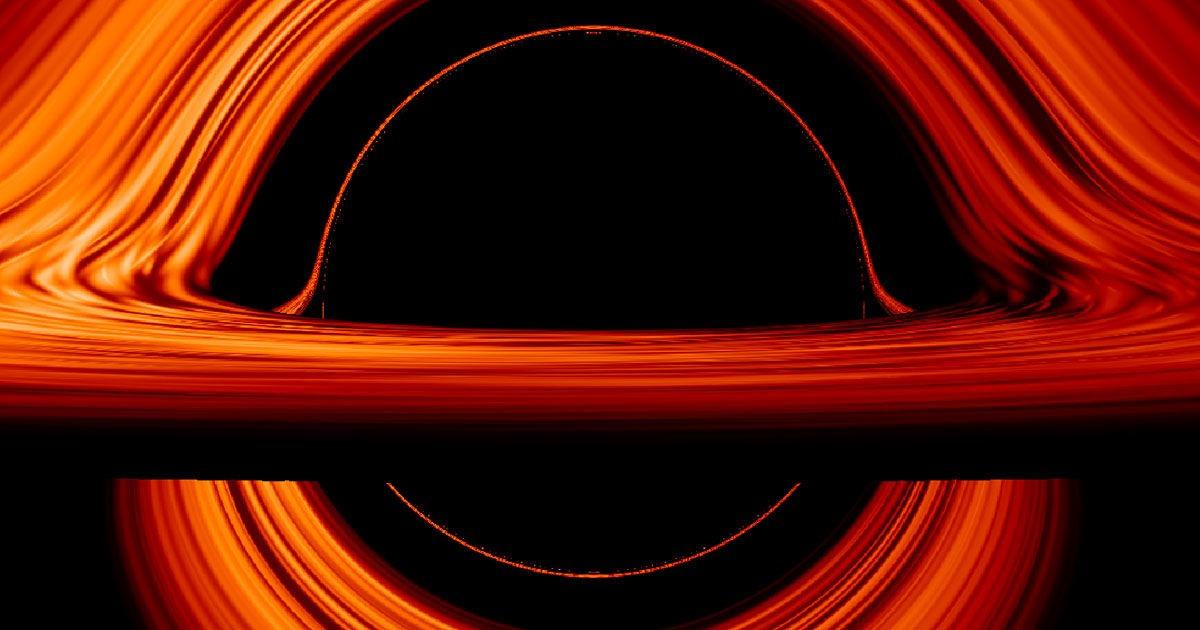 شبیهسازی ناسا از یک سیاهچاله